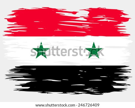 the flag of syria painted
