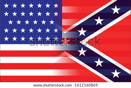 The flag of the Confederates and Union forcesduring the American Civil War Сток-фото ©