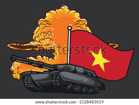 the flag of vietnam tank and