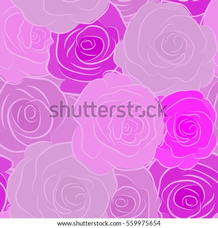 the floral seamless pattern in