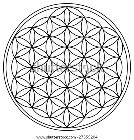 stock vector : The Flower of Life is the modern name given to a geometrical