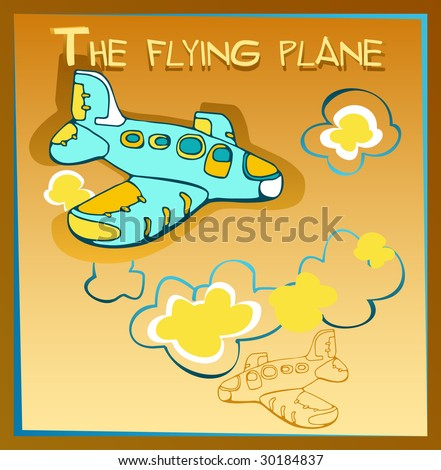 The flying plane