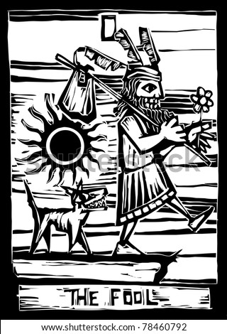 the fool is the First image in a tarot card deck.
