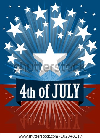 The fourth of july independence day banner