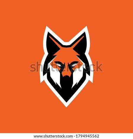 The Fox Mascot Esports Logo Templates. Fox mascot sport logo design. Fox animal head mascot vector illustration logo.