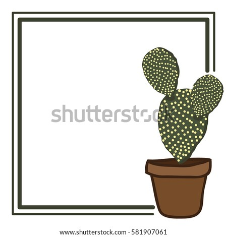 The frame of succulent cactus