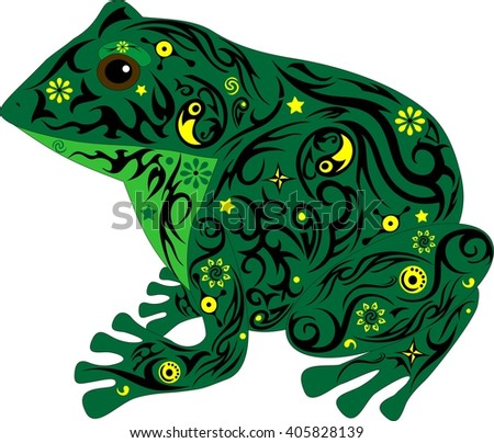 the frog with a pattern