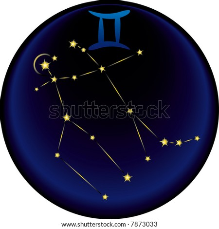 the Gemini constellation plus the Gemini astrological sign