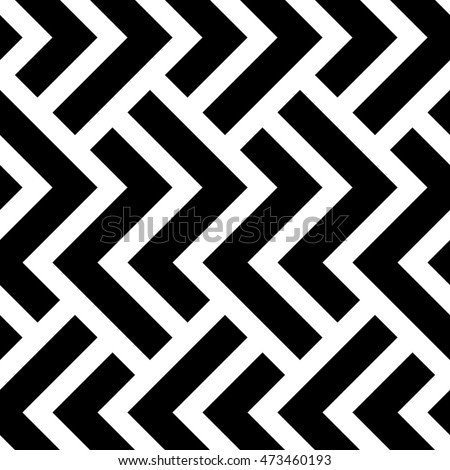 The geometric pattern by stripes . Seamless vector background. Black and white texture. Graphic modern pattern.