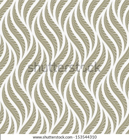 The geometric pattern of leaves. Seamless vector background.