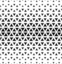 The geometric pattern with triangles. Seamless vector background. Black and white texture.