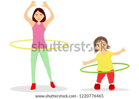 hula hoop girl vector download vetores e gráficos gratuitos
