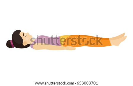 the girl is sleeping in yoga