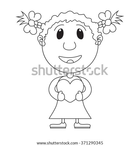 the girl's illustration with