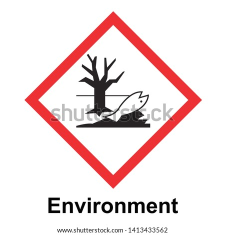 The Globally Harmonized System of Classification and Labeling of Chemicals vector on white background