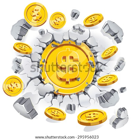 the gold dollar coin breaking