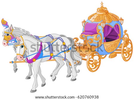 stock-vector-the-golden-carriage-of-cinderella