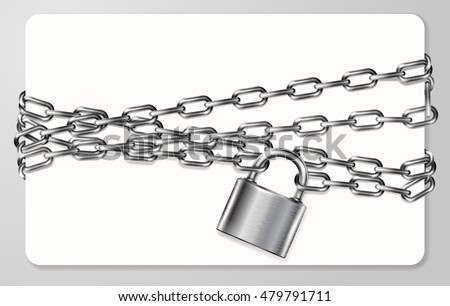 the gray metal chain and