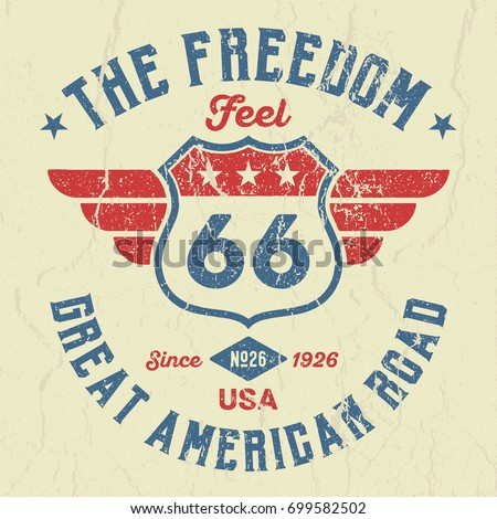 The Great American Road - Tee Design For Print