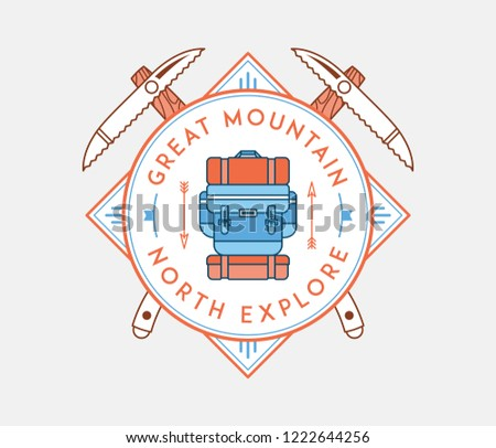 The great mountain north explore is a vector illustration about discovering and exploring
