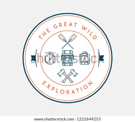 The great wild exploration is a vector illustration about discovering and exploring