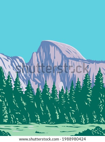 the half dome at the eastern