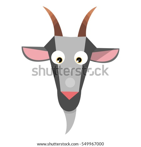 the head of a goat cartoon