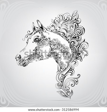 the head of a horse in an