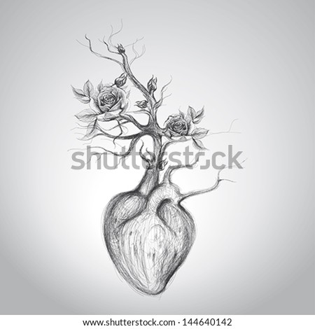 the heart is in blossom