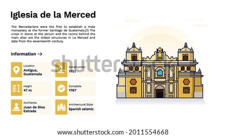 The Heritage of Iglesia de la Merced Monumental Design  Vector Illustration Foto stock ©