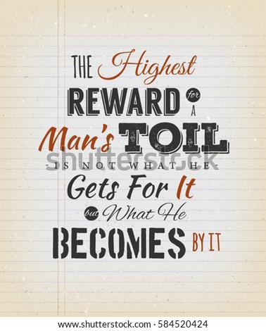 the highest reward for a man's