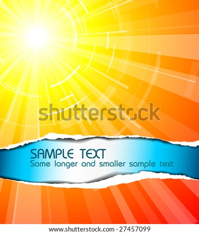 The hot summer sun with cool text