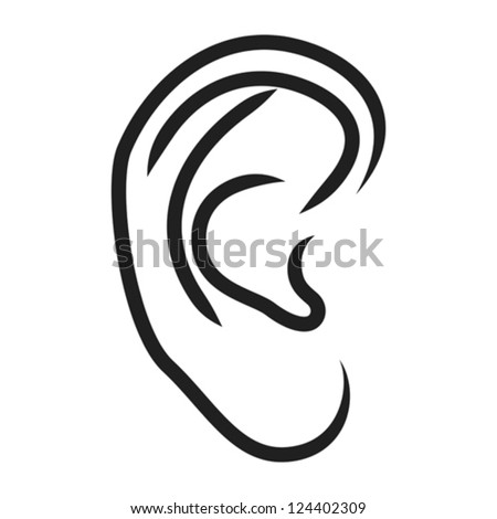 Human Ear Coloring Page Pair Of Ears Colouring Pages