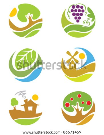 """The icons on the theme """"agriculture"""""""
