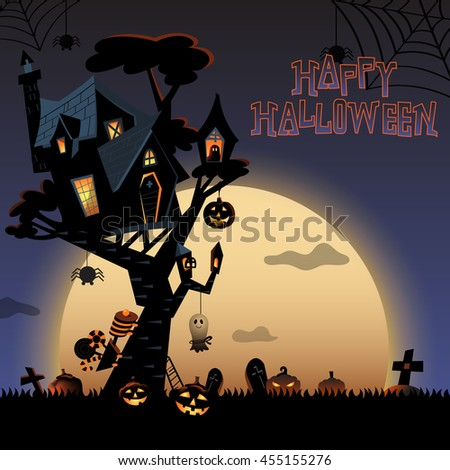 the illustration of halloween