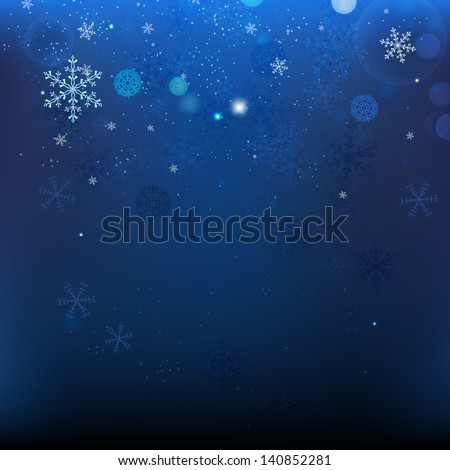 The illustration of snow Christmas Background