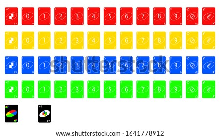 the illustration - set of the playing cards of all numbers. Foto stock ©