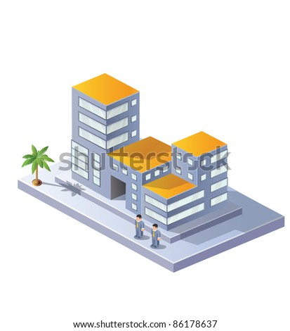 The image area in isometric projection on a white background