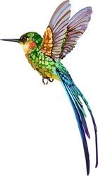 The image of a small bird. Vector