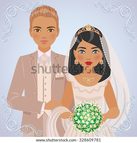 the image of blond bridegroom
