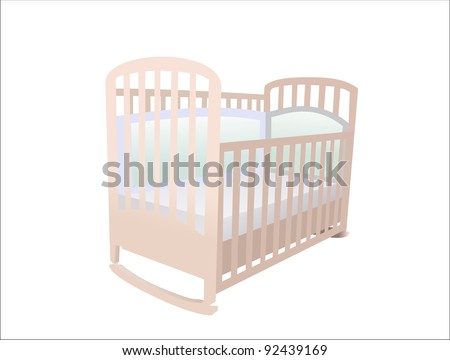 The image of child\'s bed under the white background