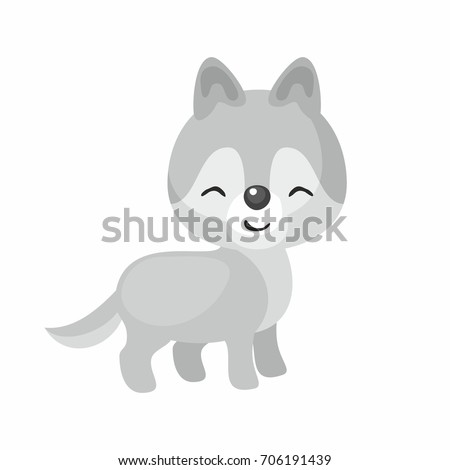 the image of cute little wolf