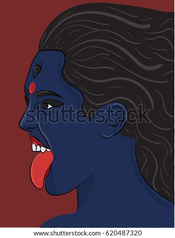 the indian goddess kali with