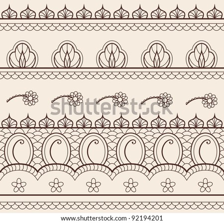 The indian henna ornament seamless
