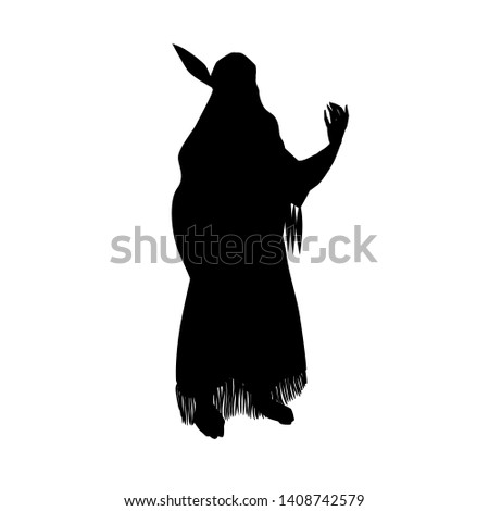 the indian woman silhouette