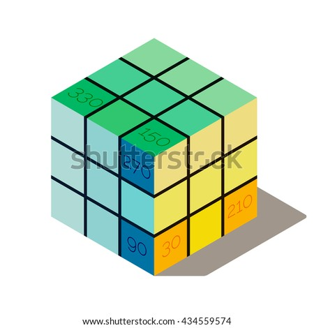 the infographic isometric cube
