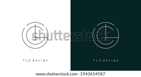 The initial letter TLC logo design modern and elegant 3 Stock fotó ©