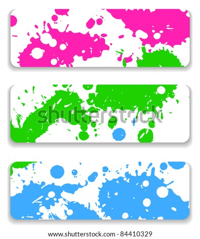 The ink splash banner set