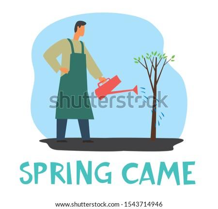 the inscription spring has come