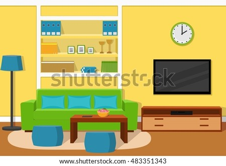 the interior of cozy living